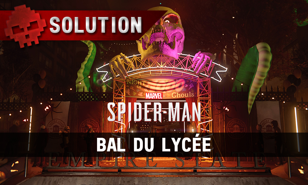Vignette solution spider-man bal du lycée