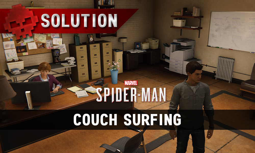Vignette solution spider-man couch surfing