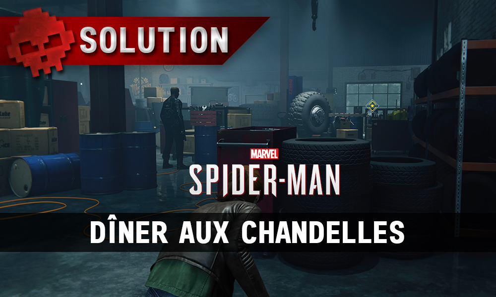 Vignette solution spider-man dîner aux chandelles