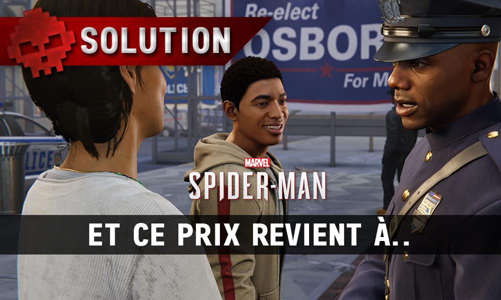 Vignette solution spider-man et ce prix revient à
