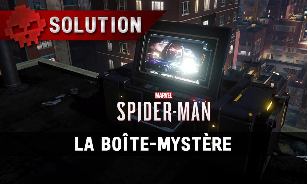 Vignette solution spider-man la boîte-mystère