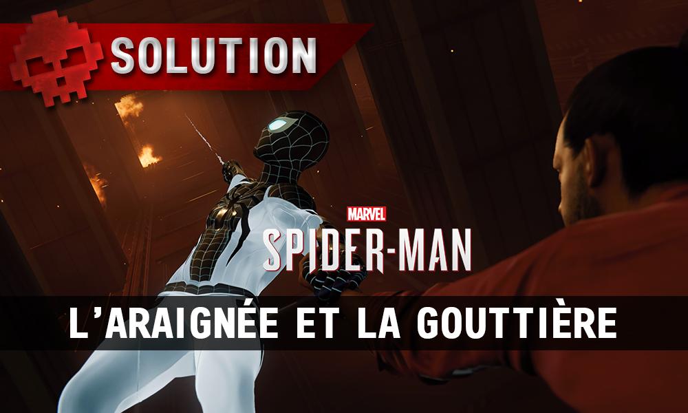 Vignette solution spider-man l'araignée et la gouttière