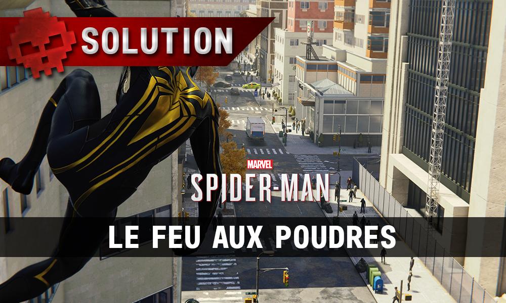 Vignette solution spider-man le feu aux poudres
