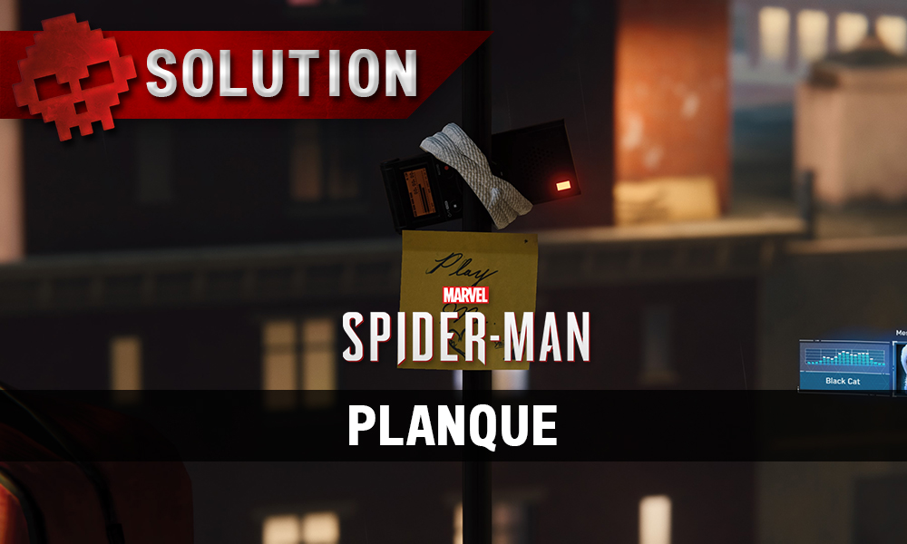 Vignette solution spider-man planque