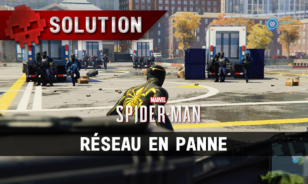 Vignette solution spider-man réseau en panne