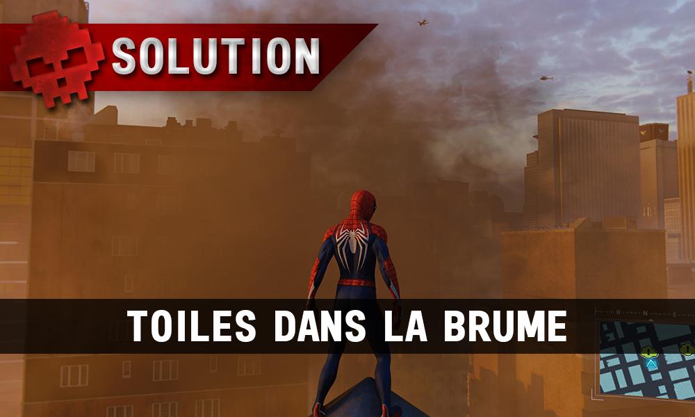 Vignette solution spider-man toiles dans la brume