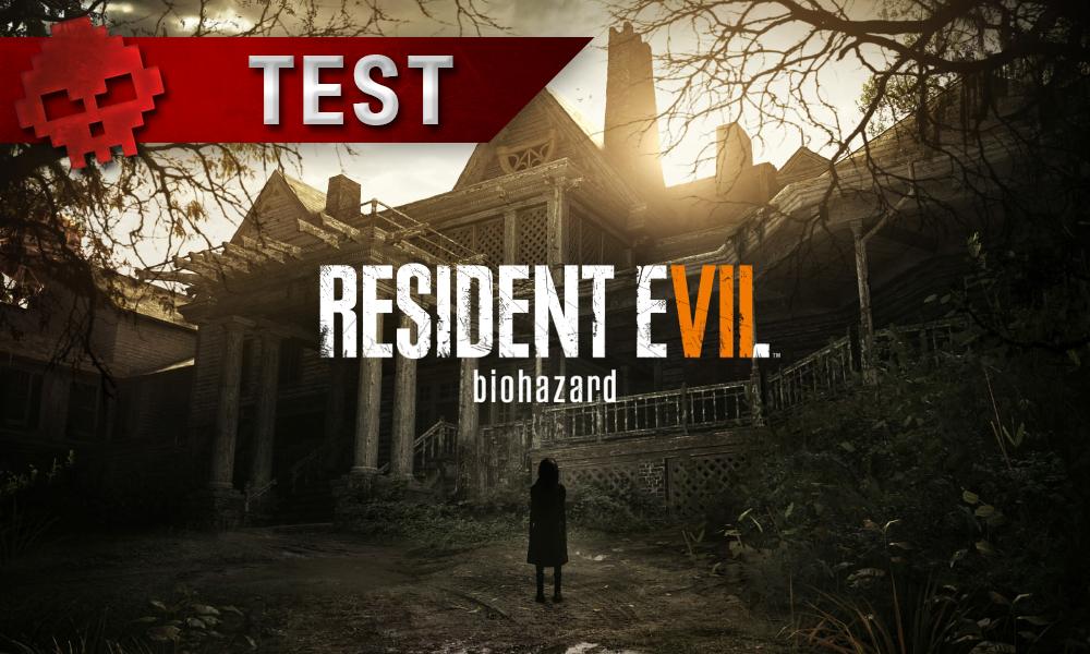 Test Resident Evil 7 maison avec logo du jeu