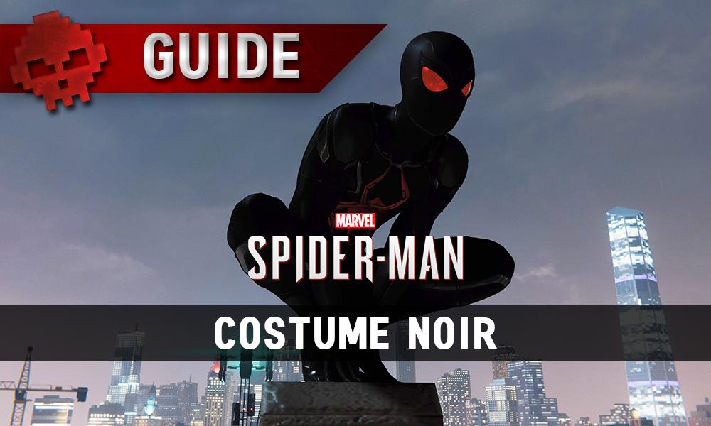 Vignettes guide spider-man costume noir