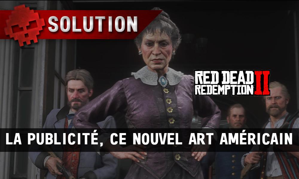 Vignettes soluce red dead redemption 2 la publicité ce nouvel art américain