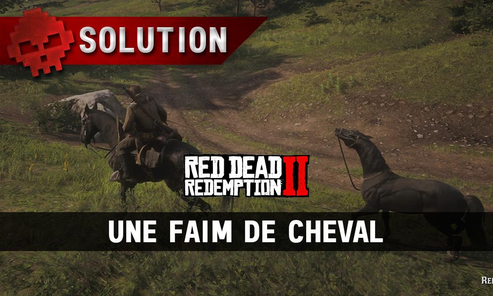 Vignettes soluce red dead redemption 2 une faim de cheval