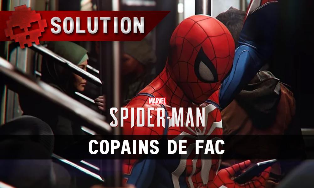 Vignettes solution spider-man copains de fac