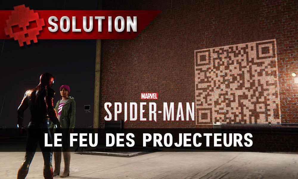 Vignette solution spider-man le feu des projecteurs