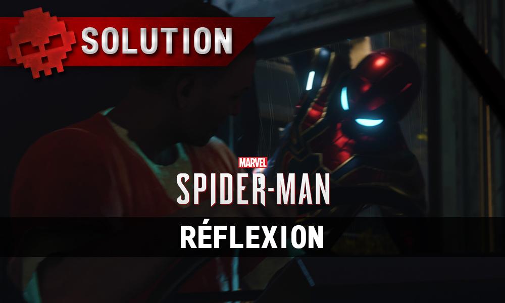 Vignettes solution spider-man réflexion