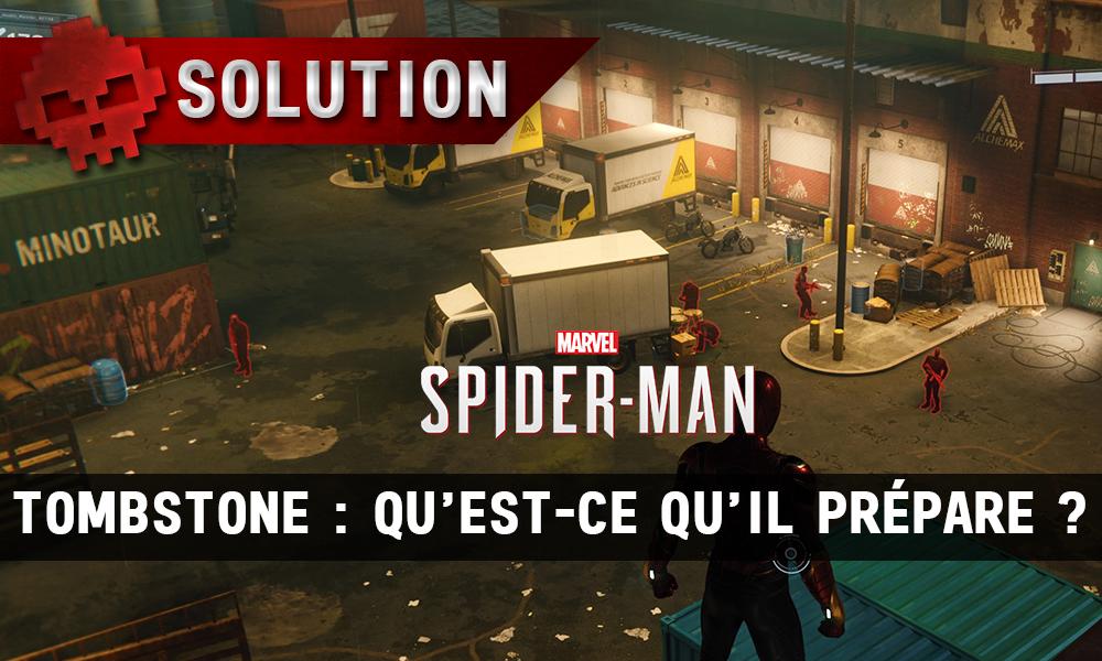 Vignettes solution spider-man tombstone qu'est-ce qu'il prépare