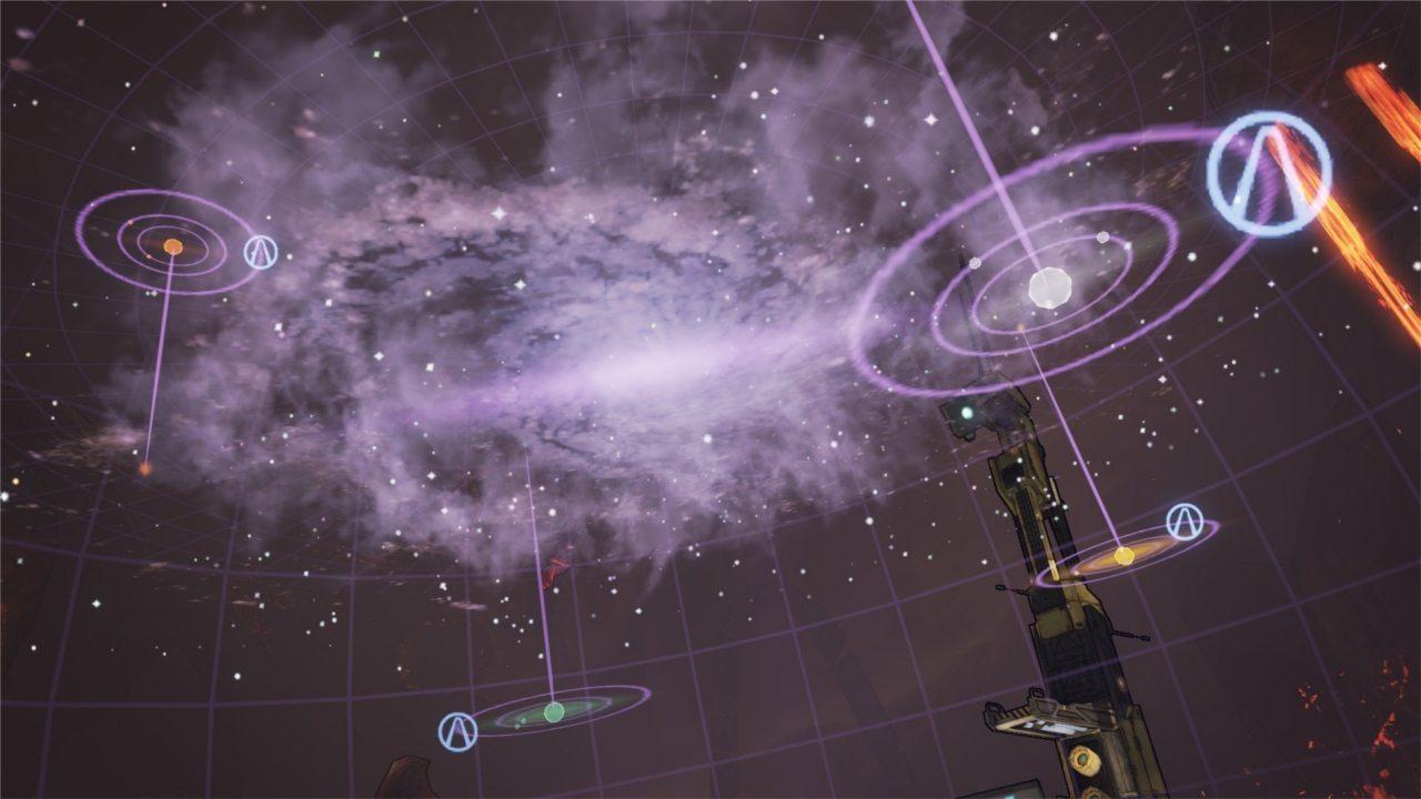 La carte de la galaxie avec les planètes arche