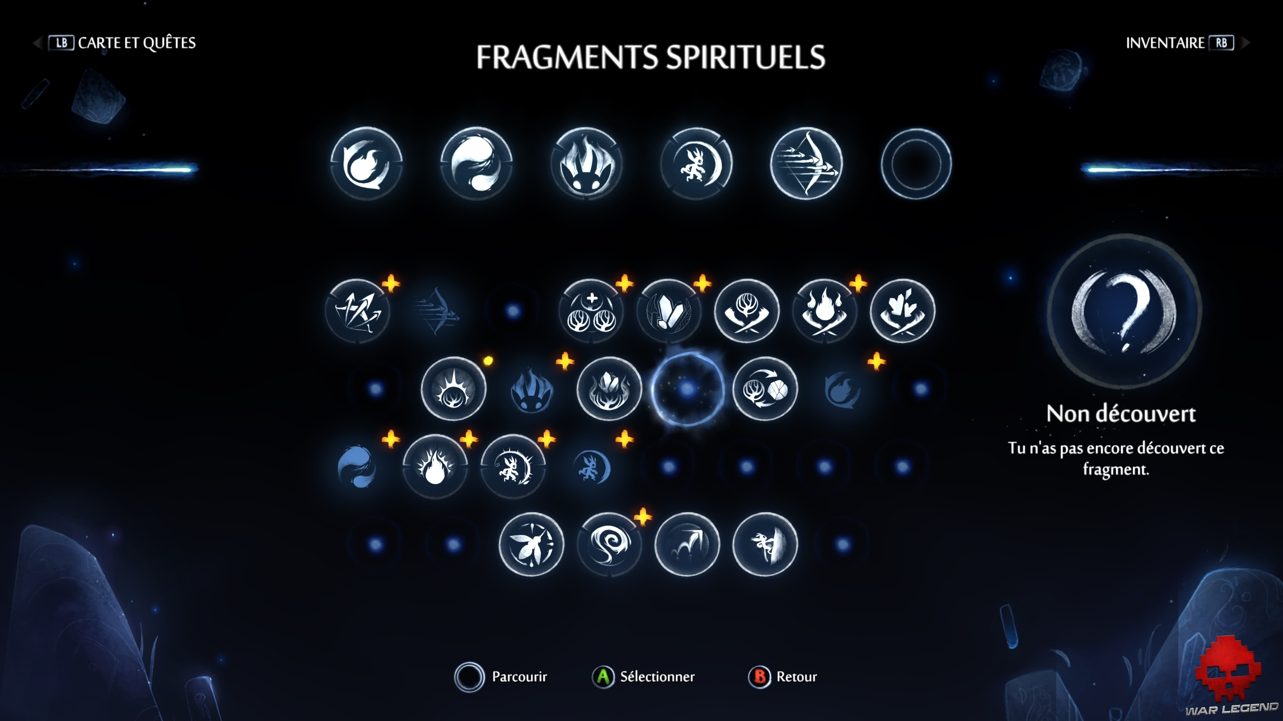 WL Ori and the will of the wisps fragments spirituels