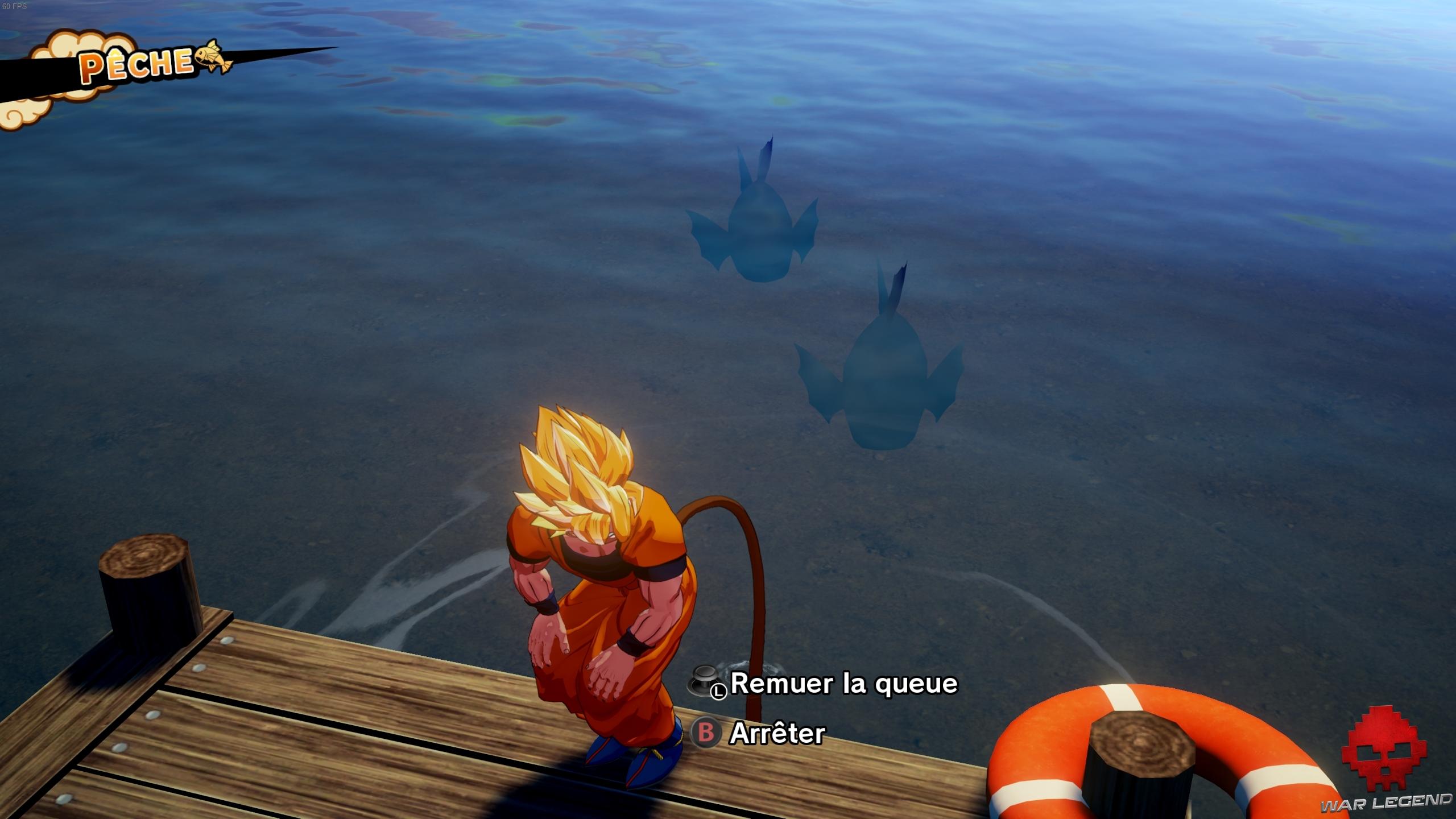 dbz kakarot pêche