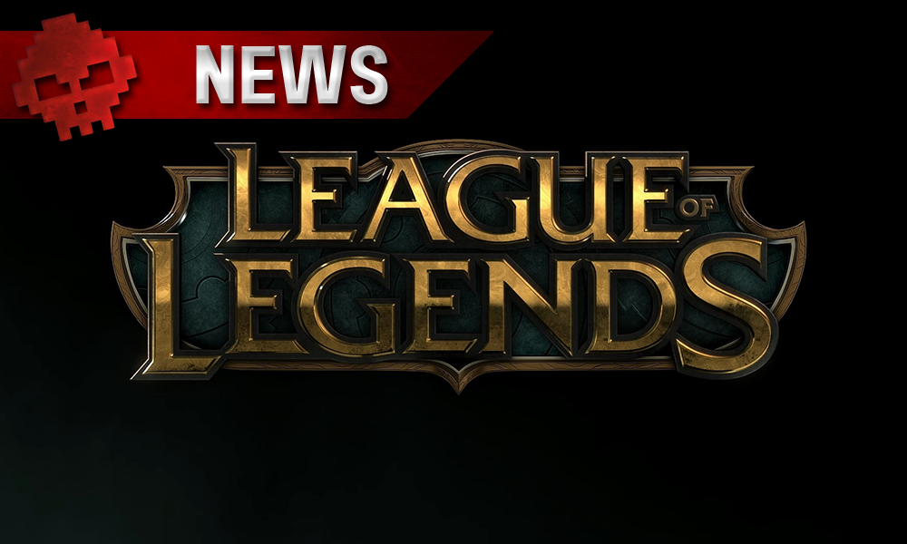 Logo de League of Legends sur fond noir