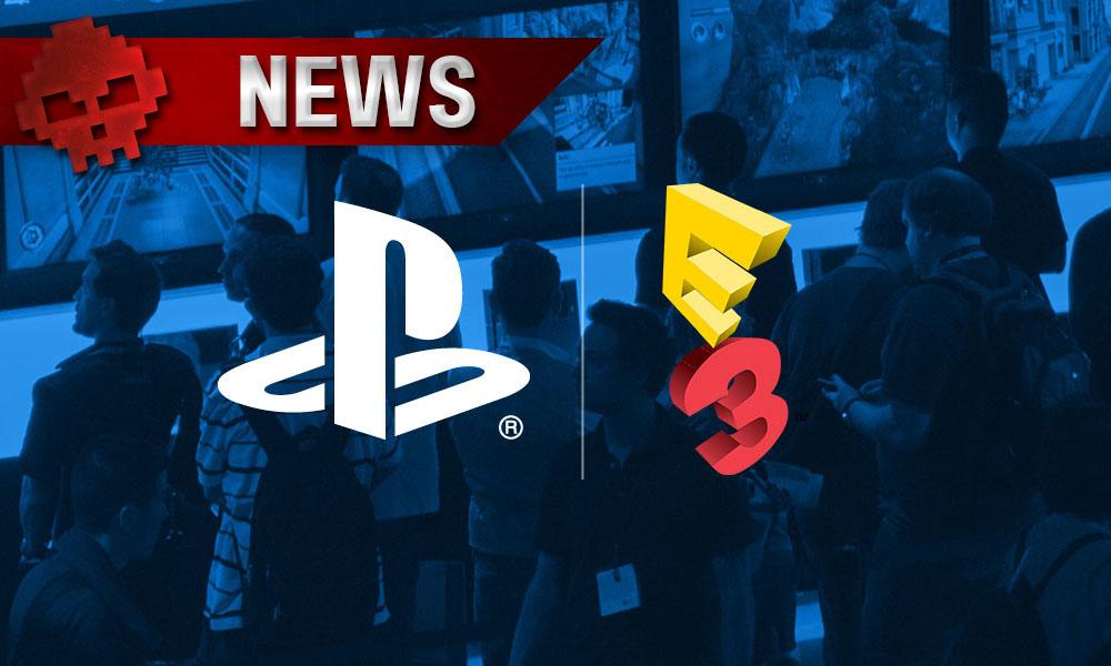 """Sony - De """"grosses annonces"""" de jeux japonais sont prévues pour l'E3 2017 - logo PlayStation + logo E3"""