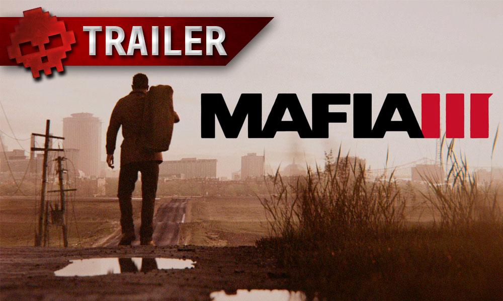 """Mafia III - Le DLC """"La hache de guerre"""" s'offre un trailer rempli de plomb - Logo et homme qui porte un sac"""
