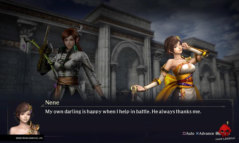 Test Warriors Orochi 4 Une scène entre deux protagonistes feminins de Warriors Orochi 4