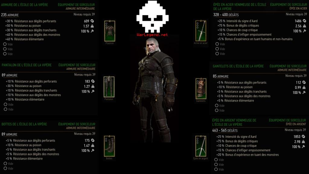 Witcher vipère stats