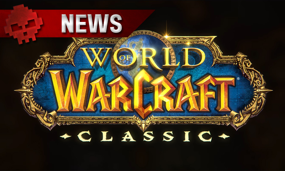 logo world of warcraft classic sur fond noir