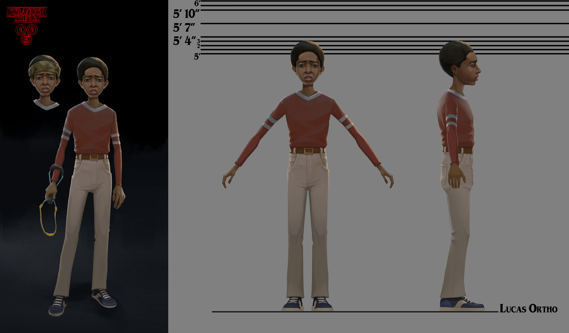 Stranger Things Lucas Sinclair Concept art