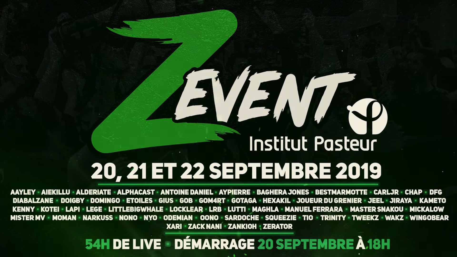 ZeratoR annonce le retour du Z Event - Liste des streamers et dates