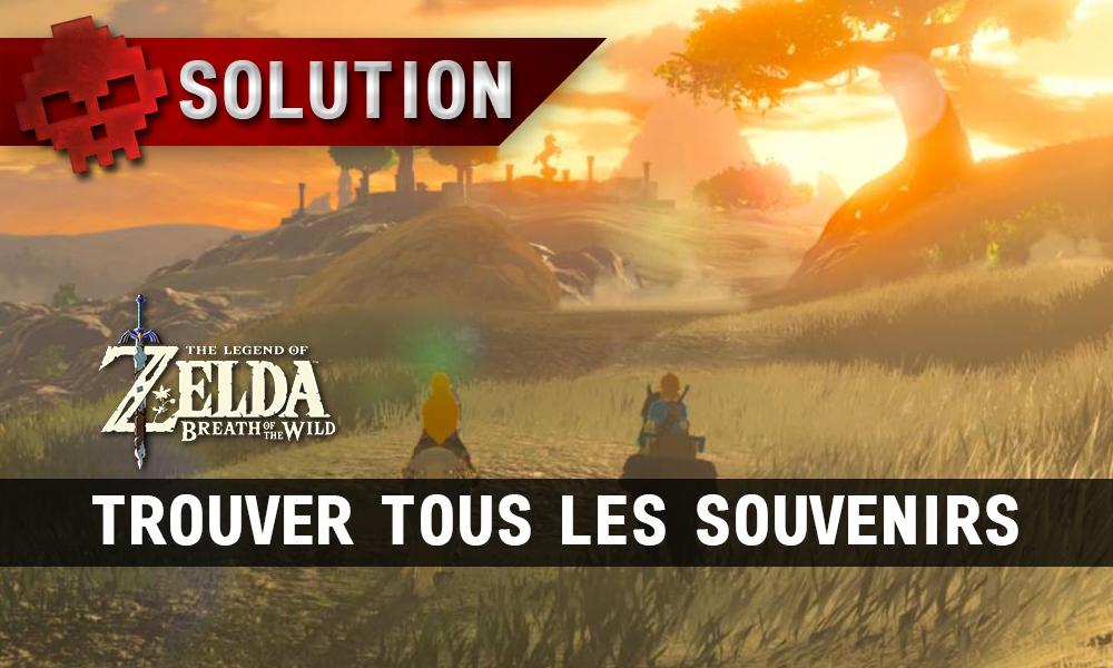 Soluce complète de Zelda Breath of the Wild Trouver tous les souvenirs