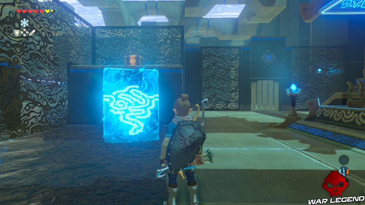 Soluce The Legend of Zelda: Breath of the Wild - Les créatures divines partie 1 bloc de glace coffre