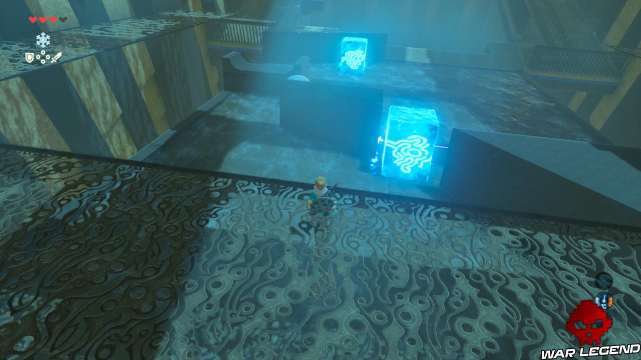 Soluce The Legend of Zelda: Breath of the Wild - Vers le domaine Zora deux blocs de glace