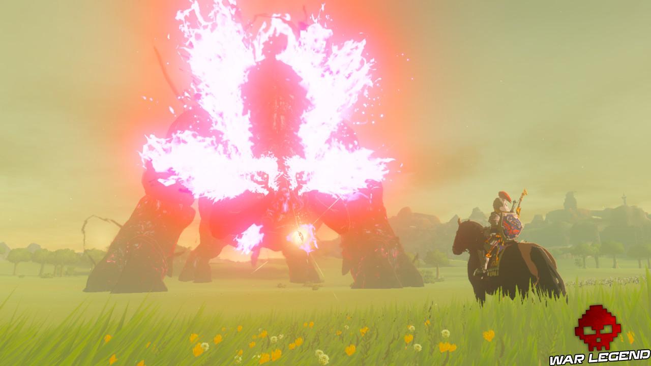Soluce The Legend of Zelda: Breath of the Wild - Abattre Ganon partie 3 Link à cheval devant Ganon