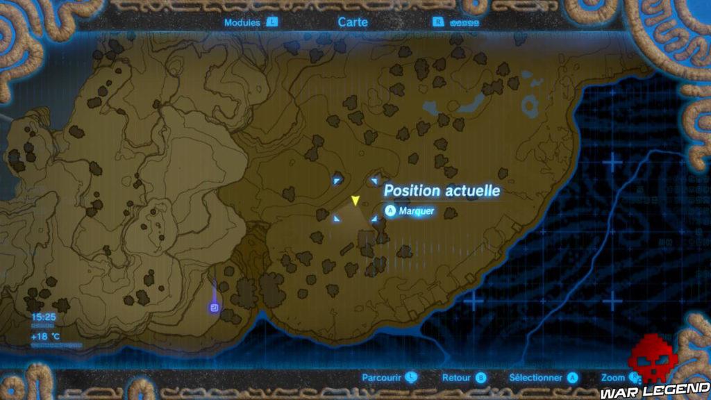 Guide The Legend of Zelda: Breath of the Wild – Les bons réflexes pour bien démarrer carte