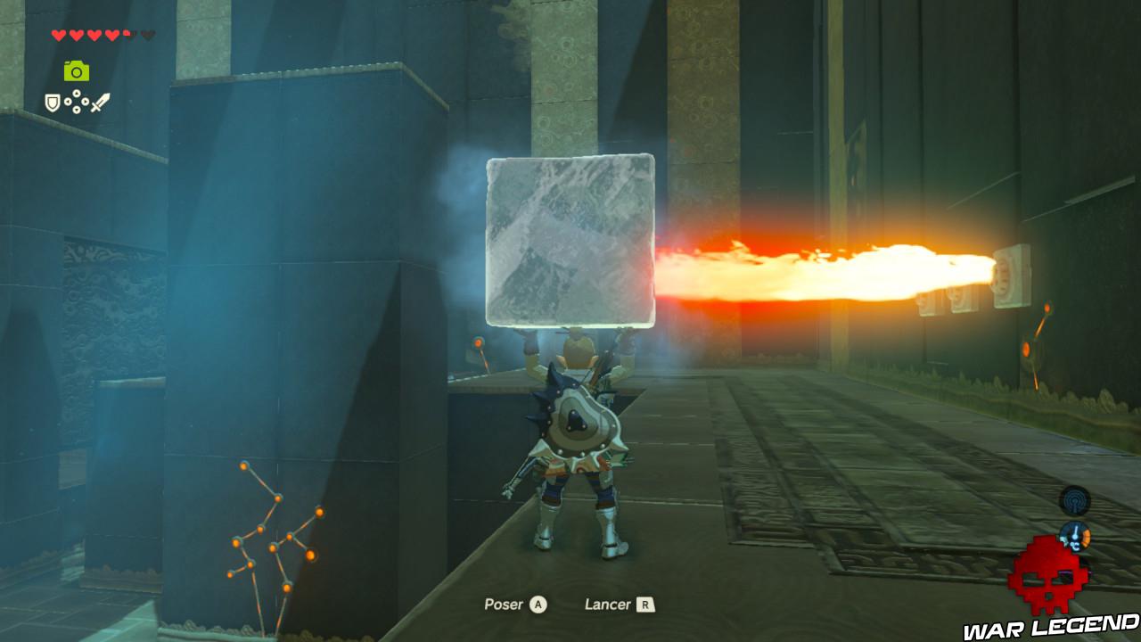 Soluce The Legend of Zelda: Breath of the Wild - Les créatures divines partie 3 bloc de glace flammes