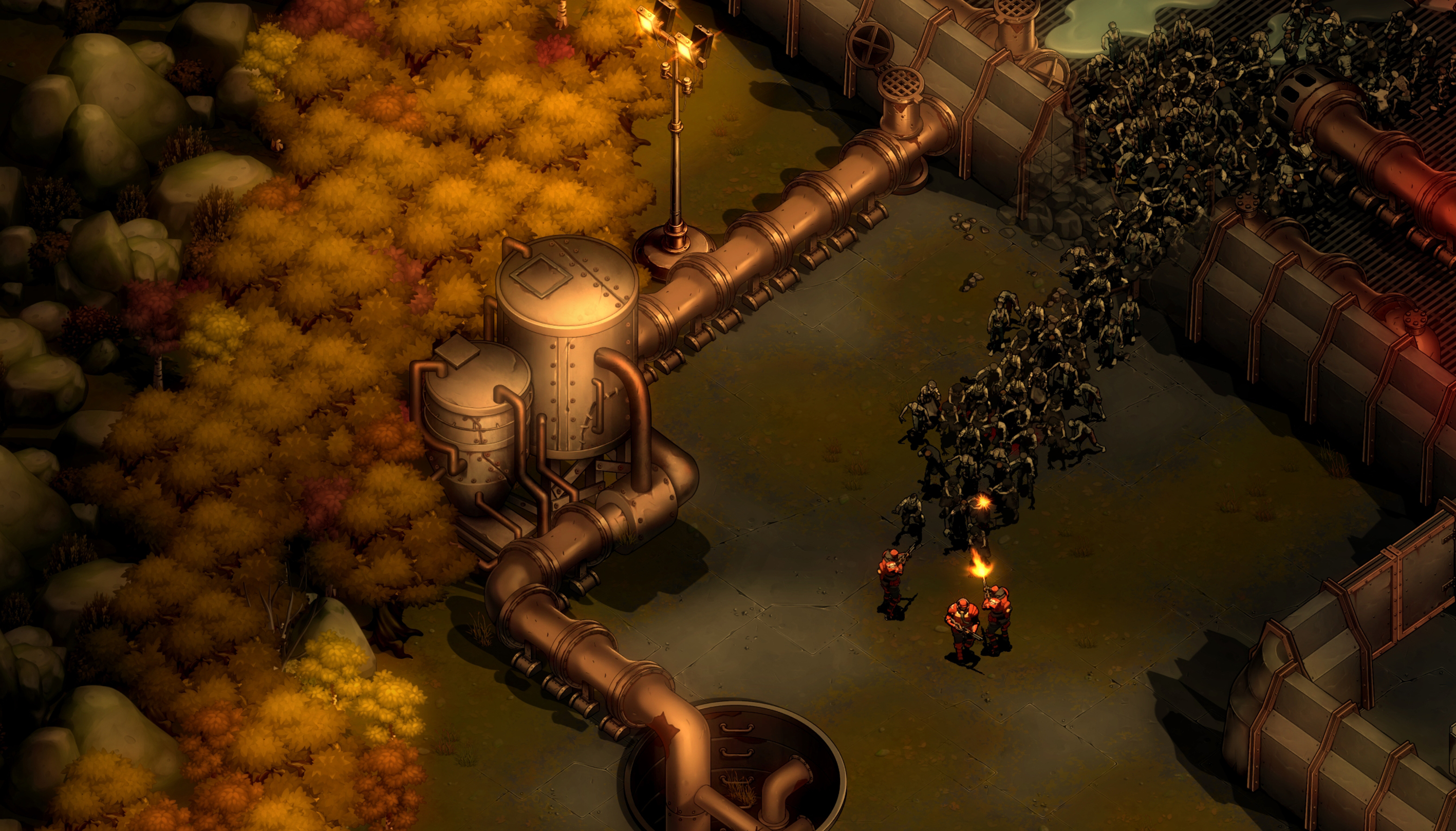 screenshot They Are Billions mode Campagne brèche dans un mur