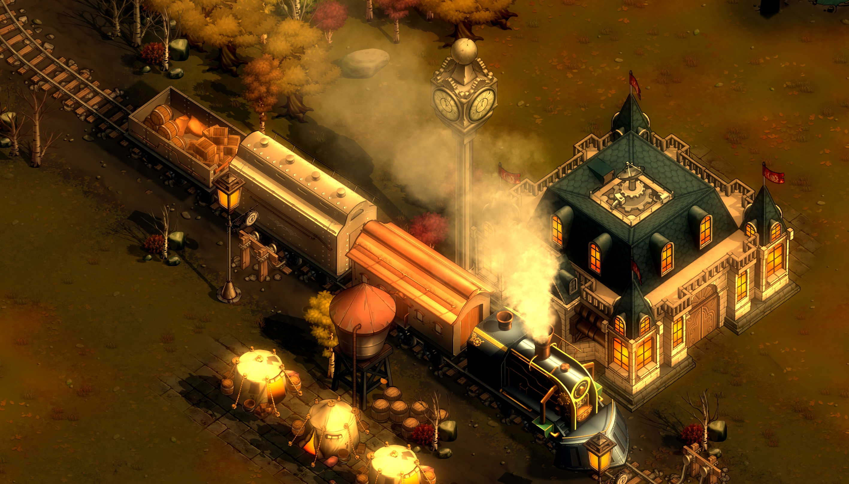 screenshot They Are Billions mode Campagne train