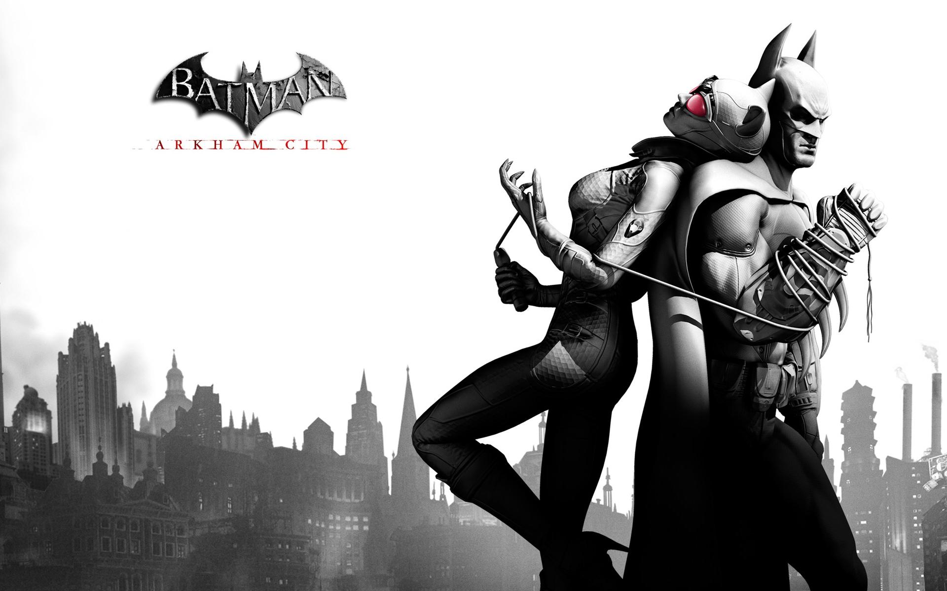 Batman arkham city cover catwoman & batman