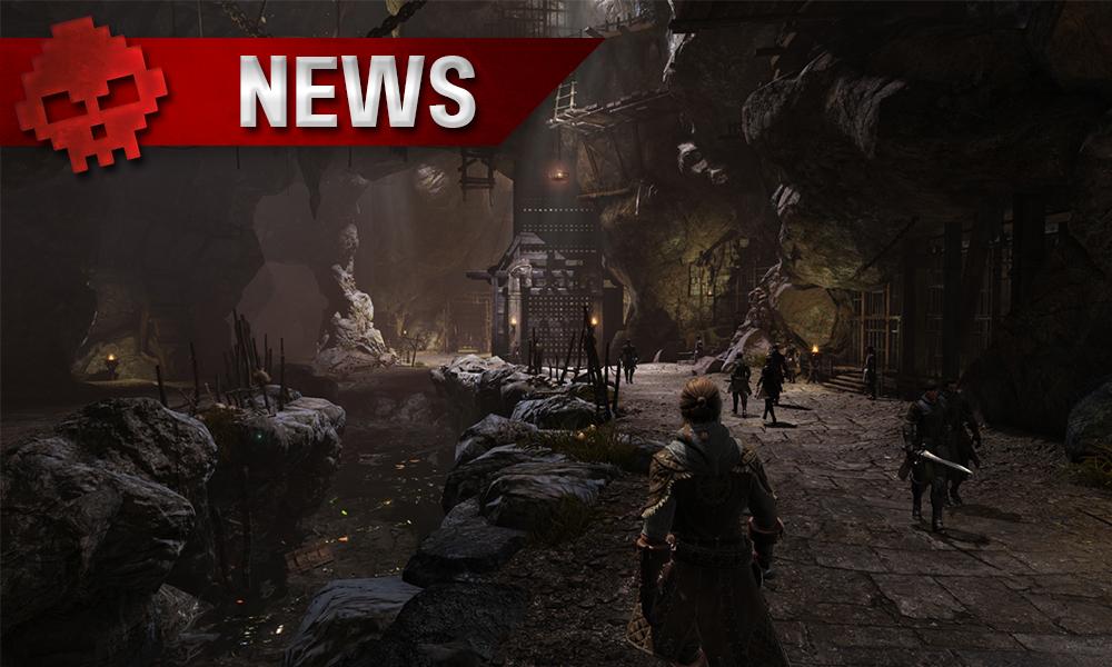 Bless Online - Une guerrière découvrant une caverne habitée