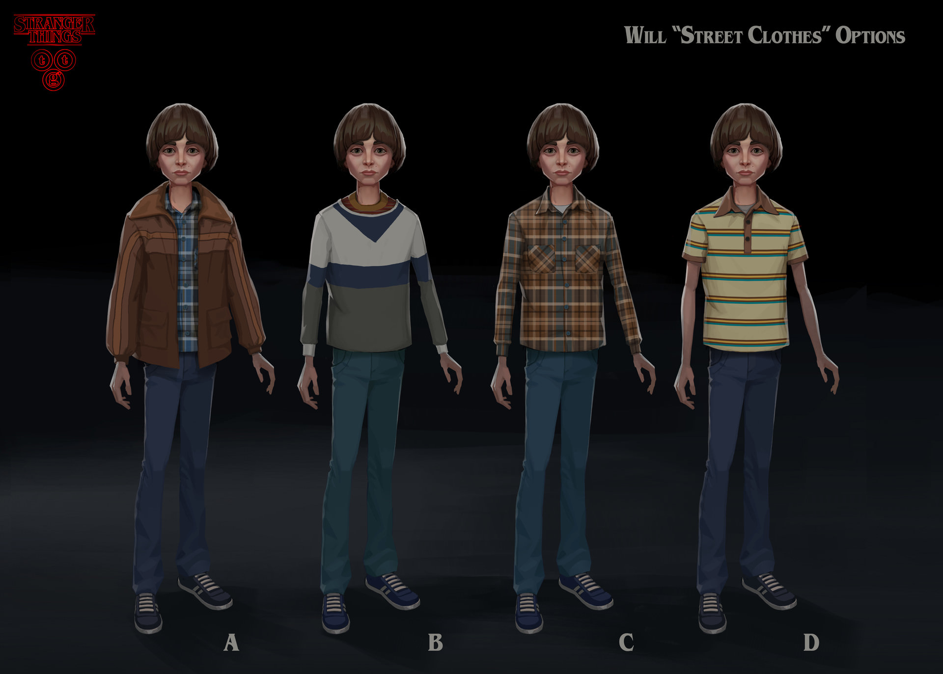 Stranger Things Will Byers Concept art