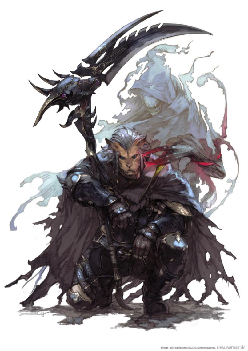 FF XIV Endwalker Reaper artwork