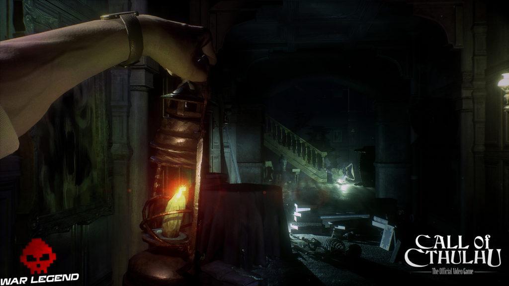 Call of Cthulhu - Des screenshots lanterne tendue vers l'obscurité