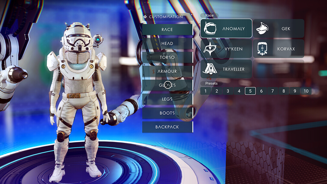 No Man's Sky - Customisation d'apparence