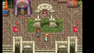 Chrono et Marle dans la ville du début du jeu - version originale