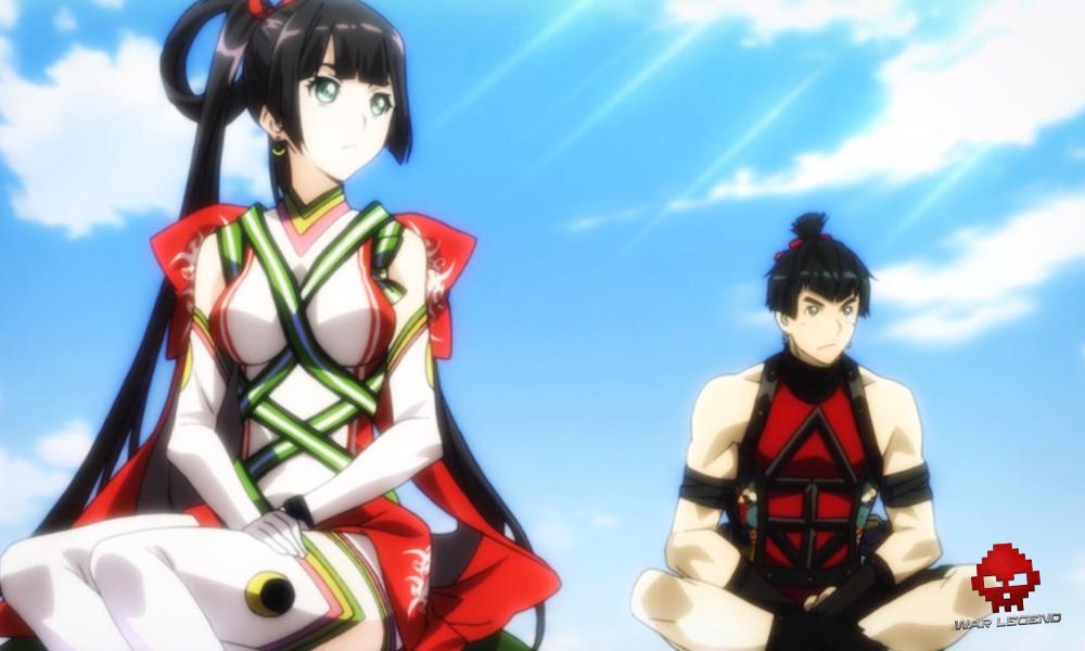 Kaguya et Kintaro sur le dos d'une tortue