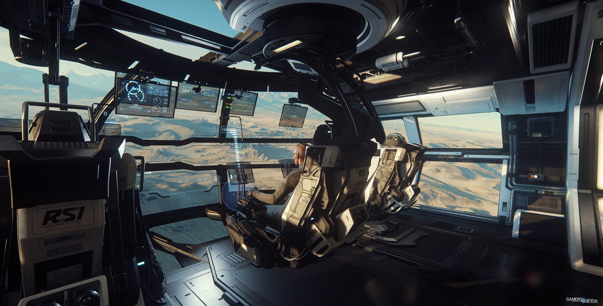 L'intérieur d'un cockpit