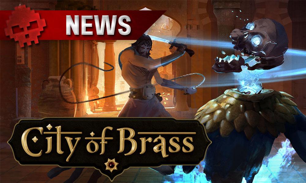 City of Brass - Le héros tranchant la tête d'un squelette à la cimeterre