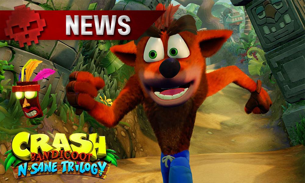 Crash Bandicoot N Sane Trilogy - Crash Bandicoot N Sane Trilogy - Aperçu du Gameplay - image qui nous montre une prévisualisation de l'apparence crash bandicoot dans le prochain jeu