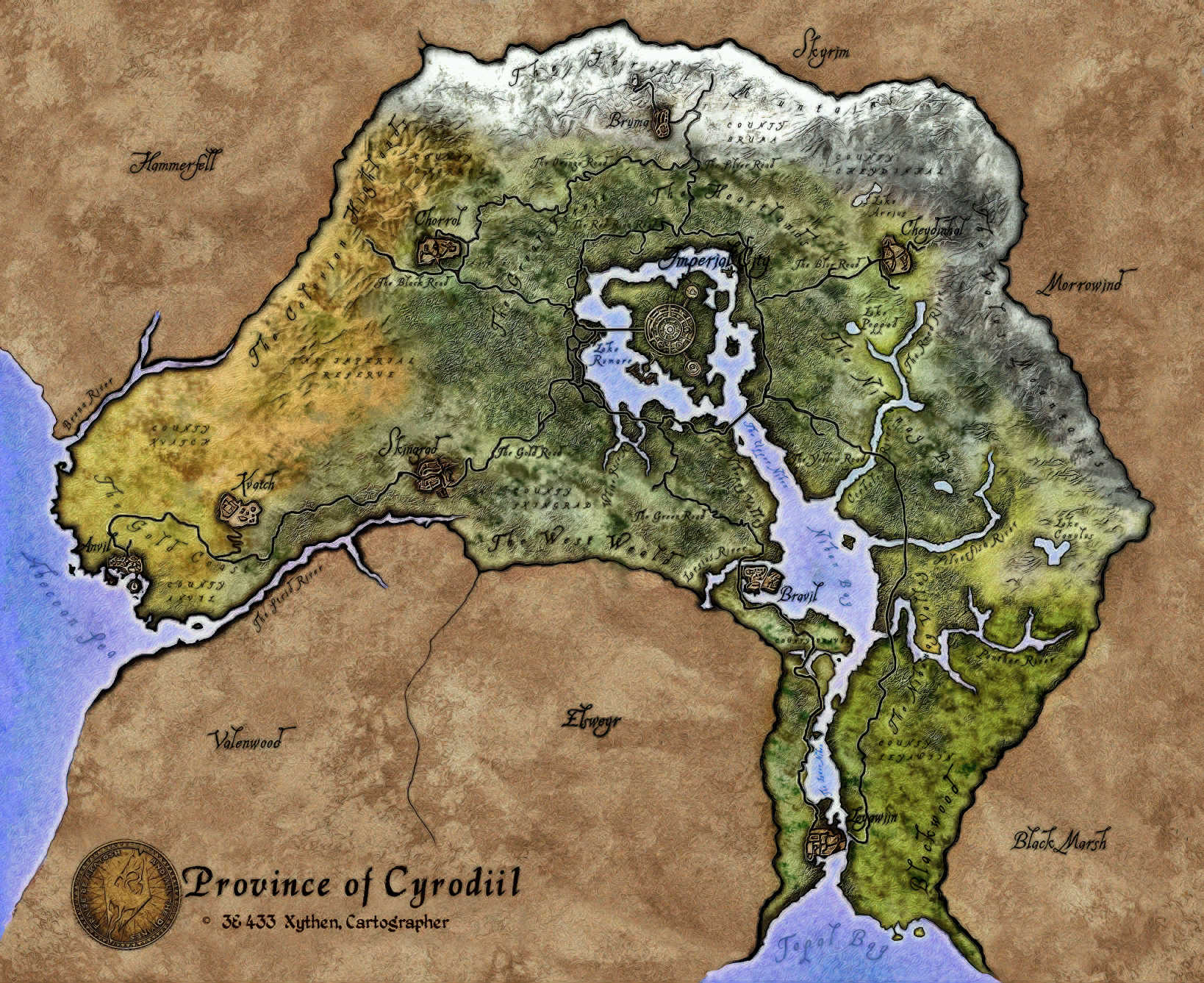 Cyrodiil Oblivion Nirnroot Locations Map Wwwpicsbudcom