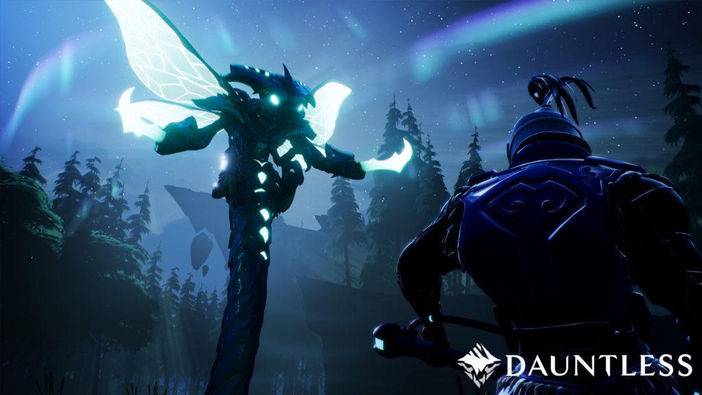 Un des monstres de Dauntless en pleine nuit